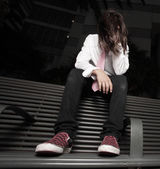 Depressed young teenager — Foto Stock