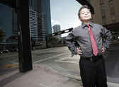Young businessman at Downtown Miami — Stock Photo