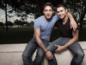 Happy young gay men — Stock Photo