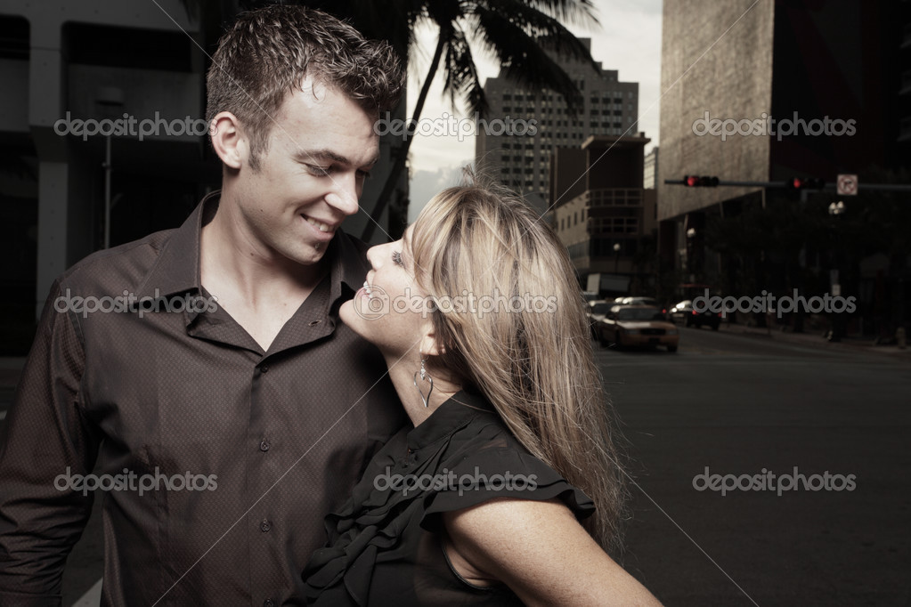 Couple looking at each other — Stock Photo #2586718
