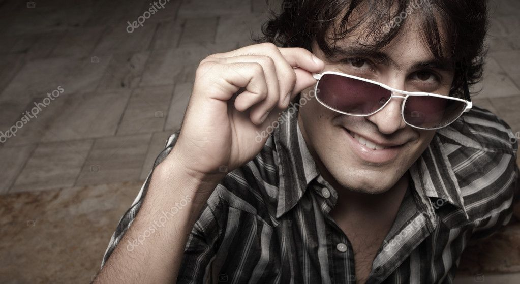 Young man in sunglasses  Stock Photo #2587589