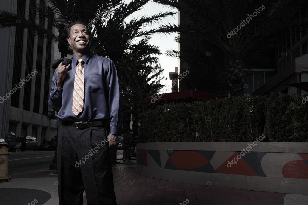 Young African American Businessman smiling — Stock fotografie #2588897