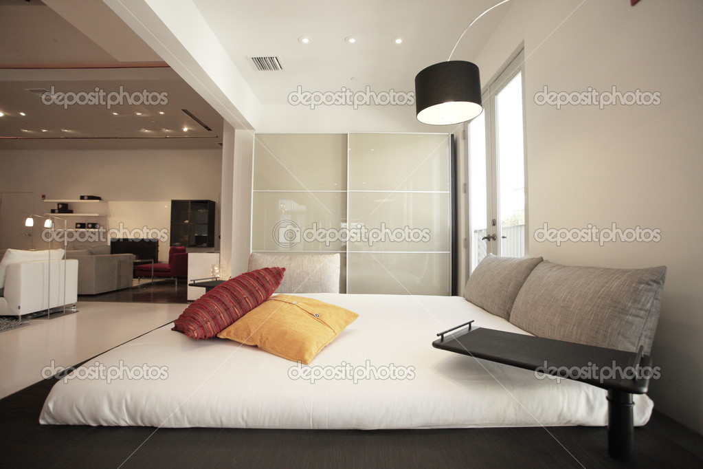 Image of a modern bedroom — Stock Photo #2589361