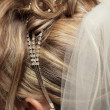 Hairstyle for a wedding — Stock Photo
