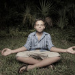 Child meditating — Foto Stock