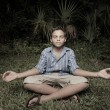 Child meditating — Stock Photo