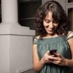 Woman texting — Stock Photo