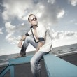 Handsome man posing at the beach — Stock Photo