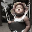 Young baby on a swing — Stock Photo #2594109