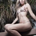 Blond woman in a bikini — Stock Photo