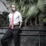Afroamerikaner Kaufmann — Stockfoto