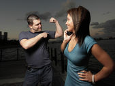 Man showing off his muscles — Stock Photo