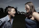 Screaming match — ストック写真