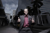 Thumbsup businessman — Stock Photo