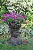 Giardino fioriera — Foto Stock