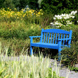 Blue Bench — Stock Photo