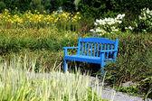 蓝色长椅 — 图库照片