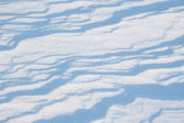 Blue Snow Ripples — Stock Photo