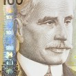 Detail Canadian 100 Dollar Bill - Stock Photo