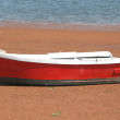 Stock Photo: Wooden Red Row Boat
