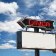 Diner Sign — Stock Photo