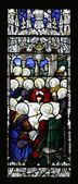 O última vitral de ceia — Fotografia Stock