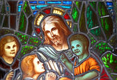 Jesus and the Children — Stock Photo