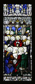The Last Supper Stained Glass — Stock Photo
