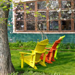 Stock Photo: Magnolia Chairs 2