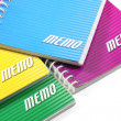 Stock Photo: Spiral Ringed Memo Pads