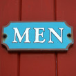 Men's room sign — Stock Photo