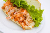 Open Lobster Sandwich — Stock Photo