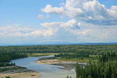 North Saskatchewan River — Stock Photo