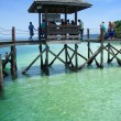 Pier, islands near Kota Kinabalu — Stock Photo