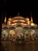 The Blue Mosque by night — Stock Photo
