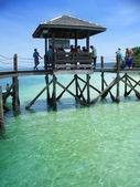 Pier, islands near Kota Kinabalu — Stock Photo