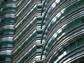 Petronas Twin Towers detail — Stock Photo
