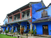 Chinese blue mansion — Stock Photo