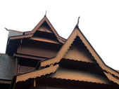 Teak house roof — Stock Photo