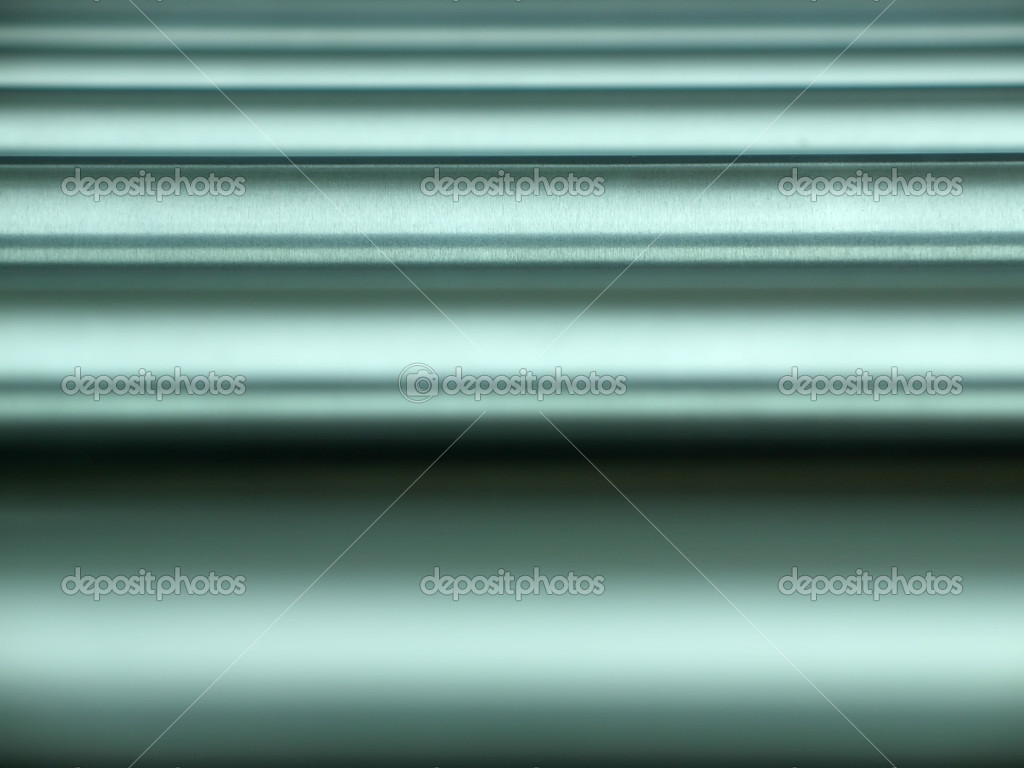 Abstract background with brushed horizontal metal pipes, focus is on the third from bottom — Stock Photo #2329930