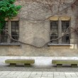 Stock Photo: Stone benches