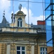 Building reflection, Ljubljana — Stock Photo