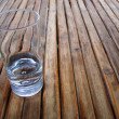 Royalty-Free Stock Photo: Glass on a wood table top