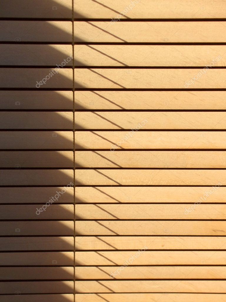 Sun passing through wooden venetian blinds,   Stok fotoraf #2353439