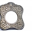 Antique silver frame — Stock Photo