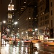 Stock Photo: 5th avenue by night
