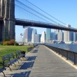 Stock Photo: Brooklyn Bridge park, New York