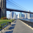 Brooklyn Bridge park, New York - Stock Photo