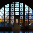 Ellis Island window — Stock Photo