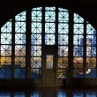 Stock Photo: Ellis Island window